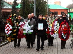 Magnitskijs begravning. Foto: Novaja Gazeta