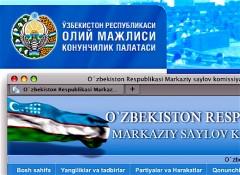 Officiellt har Uzbekistan övergått till latinska alfabetet, men praktiken är varierande. Parlamentets webbplats använder fortfarande den gamla ortografin, centralvalnämnden föredrar latinska bokstäver.