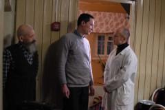 Chobotov talar med patienter.