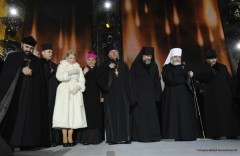 Tymosjenko ber för Ukraina på valkampanjens sista dag. Foto: Tymoshenko.ua