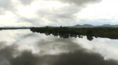 Floden Bikin vid kinesiska gränsen, några timmar före ankomst till Vladivostok.