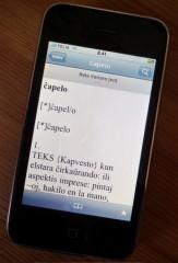 Reta Vortaro en iPhone