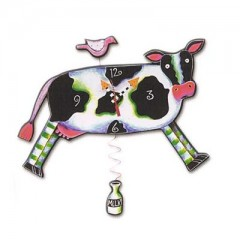 (Milk Cow Clock - Michelle Allen Designs)