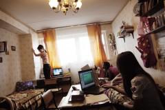 Ett studentrum på Vänskapsuniversitetet. Foto: Anna Bank