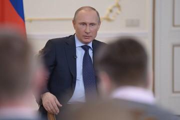 Putin talar till journalisterna. Foto: Kremlin.ru