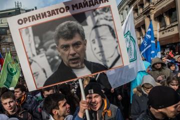 """Nemtsov  utmålas som """"Majdans organisatör"""". Foto: Jevgenij Feldman"""