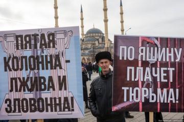 """""""Femte kolonnen ljuger och luktar illa"""". Foto: Varlamov.ru"""