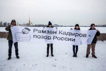 """""""Ramzan Kadyrov är en skam för Ryssland"""". Foto: David Frenkel."""