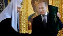 Patriarken och Putin. Foto: Patriarchia.ru.