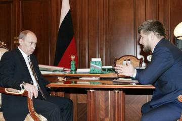 Kadyrov och Putin 2008. Foto: Kremlin.ru