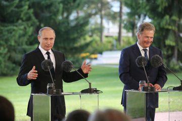 Putin och Niinistö i Gullranda. Foto: Juhani Kandell/Republikens presidents kansli