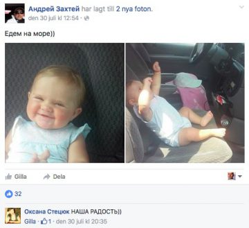 Bild från den terrormisstänkte Andrej Zachtejs Facebooksida.