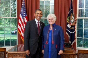 Barack Obama och Marina Kaljurand i Vita huset 2011. Foto: Vita huset, Lawrence Jackson