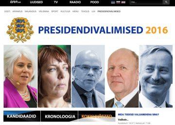 Estniska public service-bolaget ERR:s specialsajt om presidentvalet.