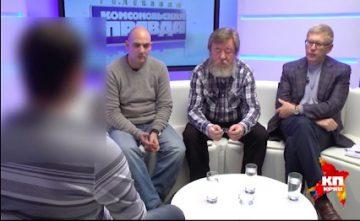 """Det """"hemliga vittnet"""" intervjuas av Komsomolskaja Pravda."""
