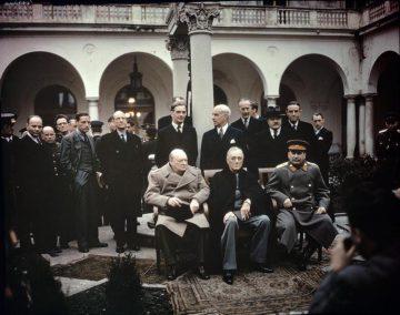 Jaltakonferensen i februari 1945.