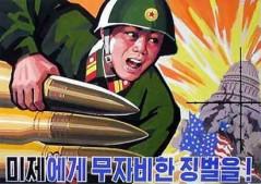 Nordkoreansk propagandaaffisch