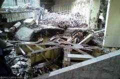Kraftverkets maskinhall efter olyckan