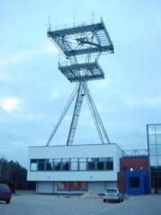 Kontrollstation för störsändare i östra Polen.