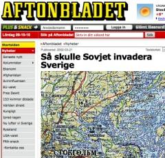 Aftonbladet avslöjar sovjetiska stabskartor år 2002.