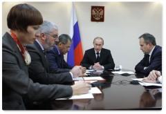 Putin träffar myndighetspersoner i Perm. Foto: www.premier.gov.ru.