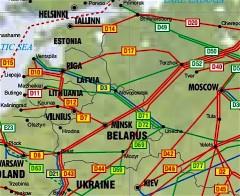 Ledningar kring Vitryssland.