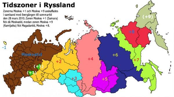 Tidszoner i Ryssland