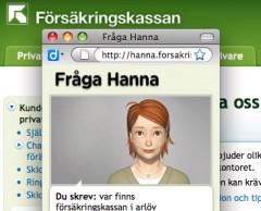 Ring inte, fråga Hanna...