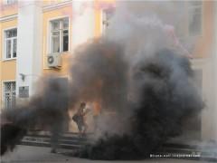 Anarkistattacken mot stadshuset i Chimki den 30 juli.