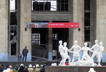 Stationen i Volgograd efter bombdådet. Foto: vyastrebov.livejournal.com