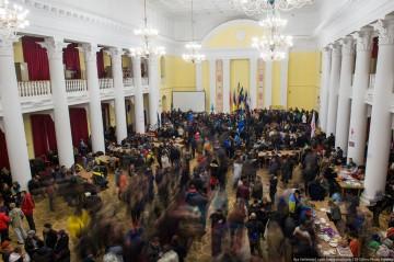Ockuperade stadshuset i Kiev.