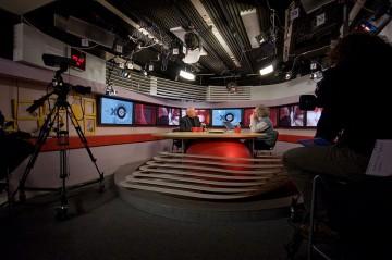 Еcho Moskvys stora studio. Foto: Aleksej Jusjenkov. CC BY-SA 3.0