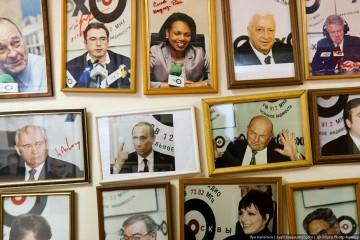Några av Echo Moskvys studiogäster. Foto: Ilja Varlamov.