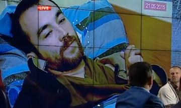 Kapten Jerofejev intervjuas i ukrainsk tv.