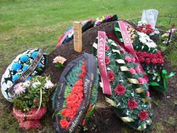 En färsk soldatgrav i ryska Tatarstan. Från Rusan Levijevs Facebooksida.