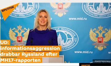 Ryska propagandasajten Sputnik förklarar att det är Ryssland som är föremål för informationskrig.