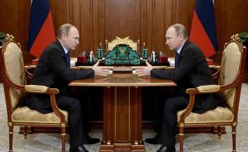 Det är inte känt om Putin har någon dubbelgångare. Bilden är manipulerad. Originalfoto: Kremlin.ru